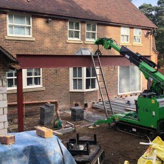 800kg-Steel-Beam-Installation-in-Finchampstead2