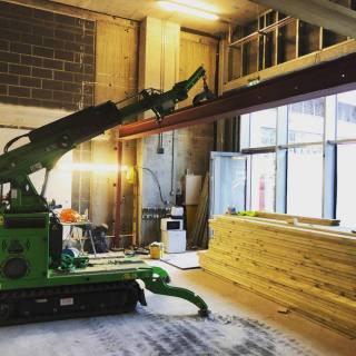 Multiple-Heavy-Steel-Beams-Installed-in-East-London