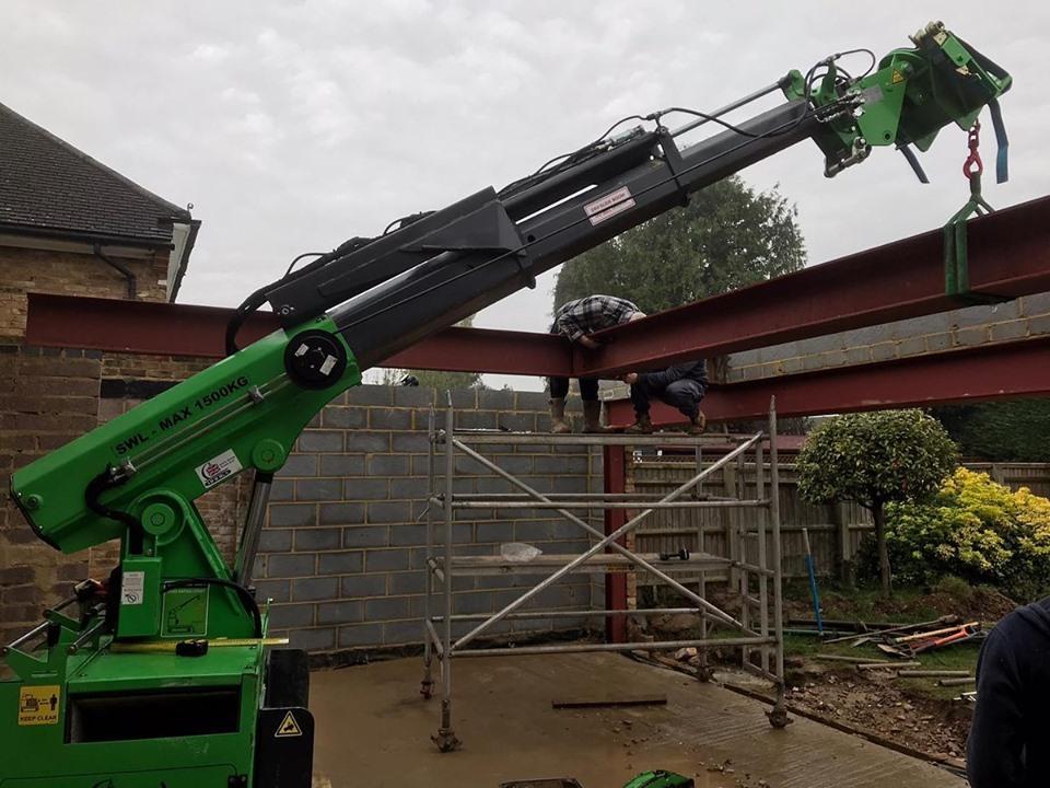 650kg Steel I-Beams Installation in Burnham