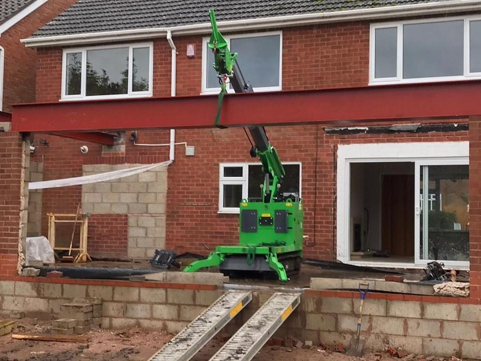 Steel I-Beam Installation in Stourbridge