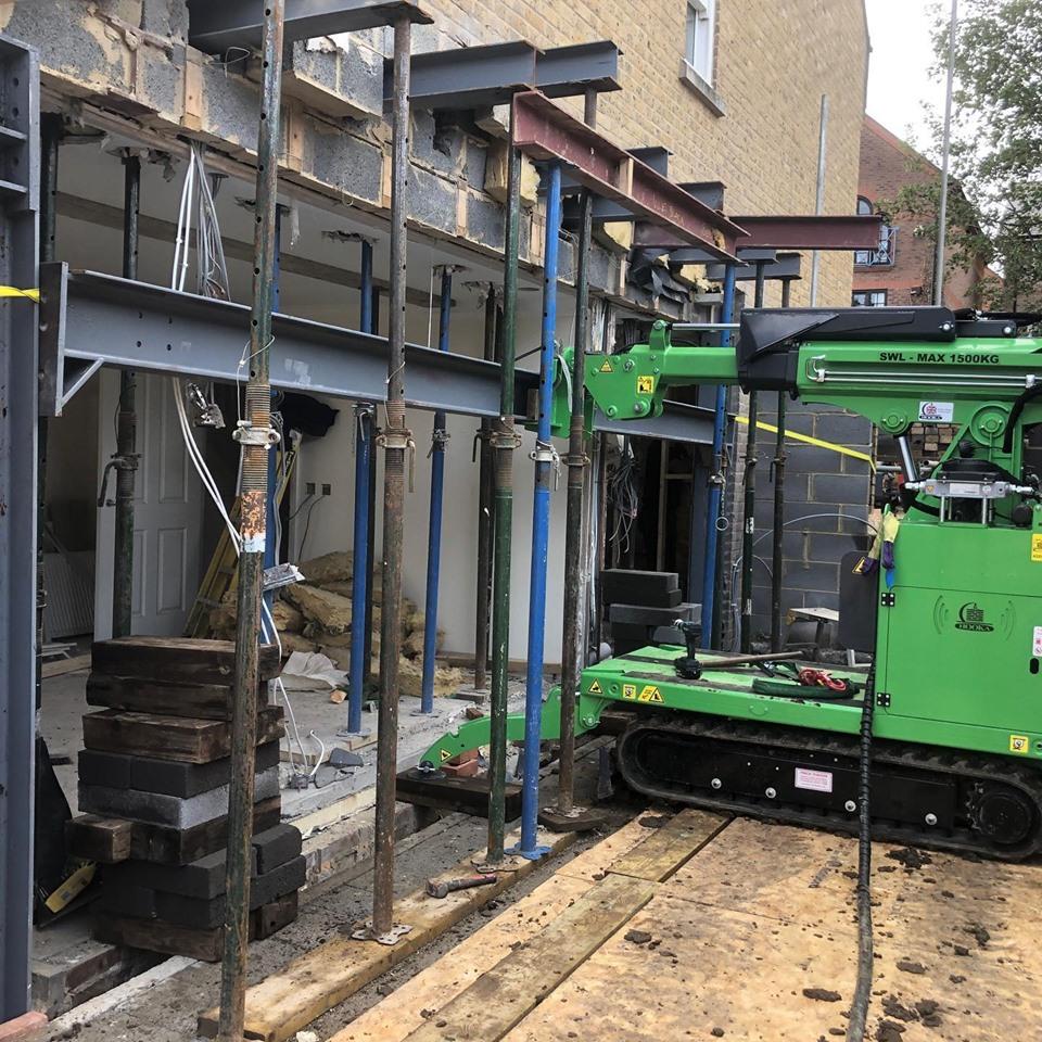 Tight Steel I-Beam Installation in Berkhamsted