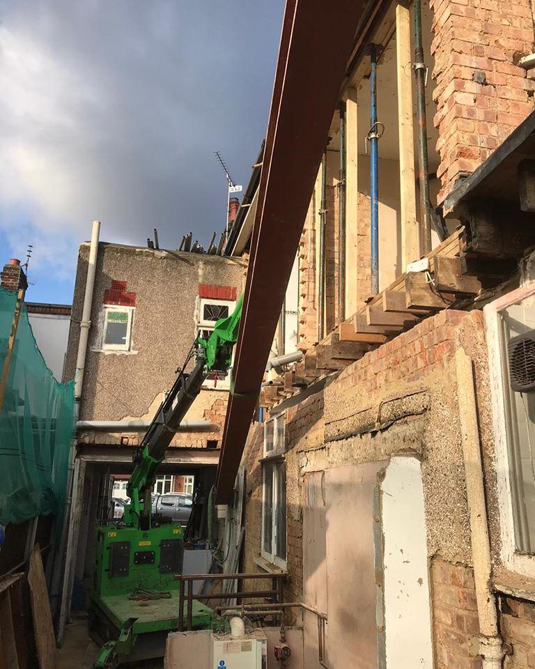 Steel Beam Installation in Wanstead