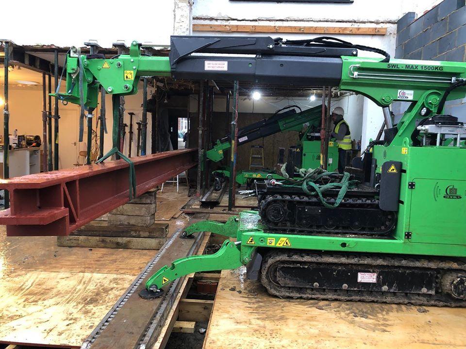 Huge 2400kg Steel Beam Installation in Dartford