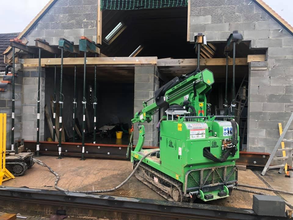 430kg Steel Beam Installation in Salisbury