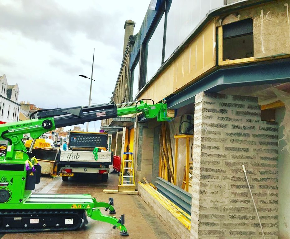 500kg Steel Beam Installation in Dundee