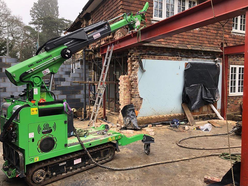 7 Heavy Steel Beams Installed in Farnham