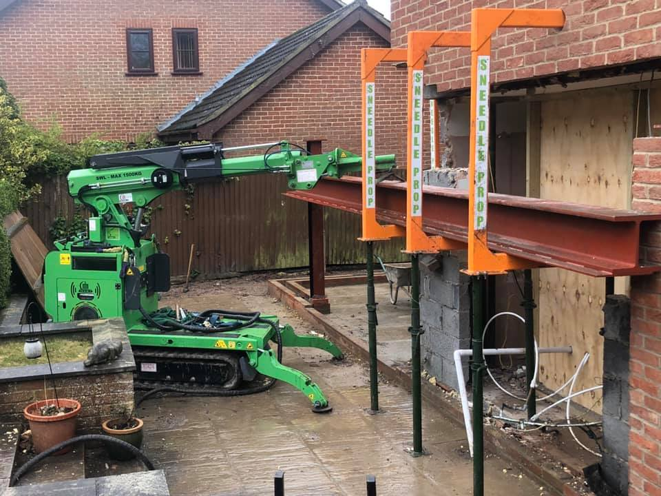 800kg Steel Beam Installation in Woking