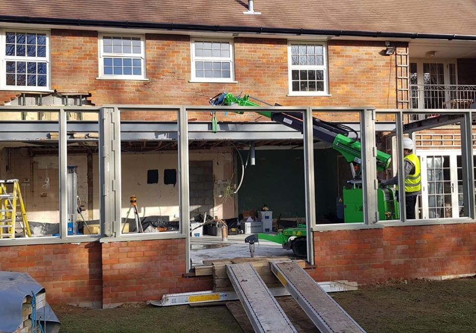 800kg Steel Beams Installation in Leighton Buzzard
