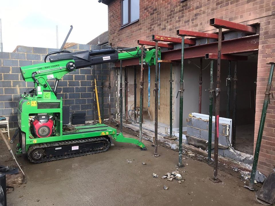 Installing a 650kg Steel Beam with Restricted Access