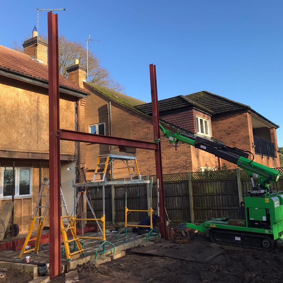 Several Steel Beam Installation in Oundle