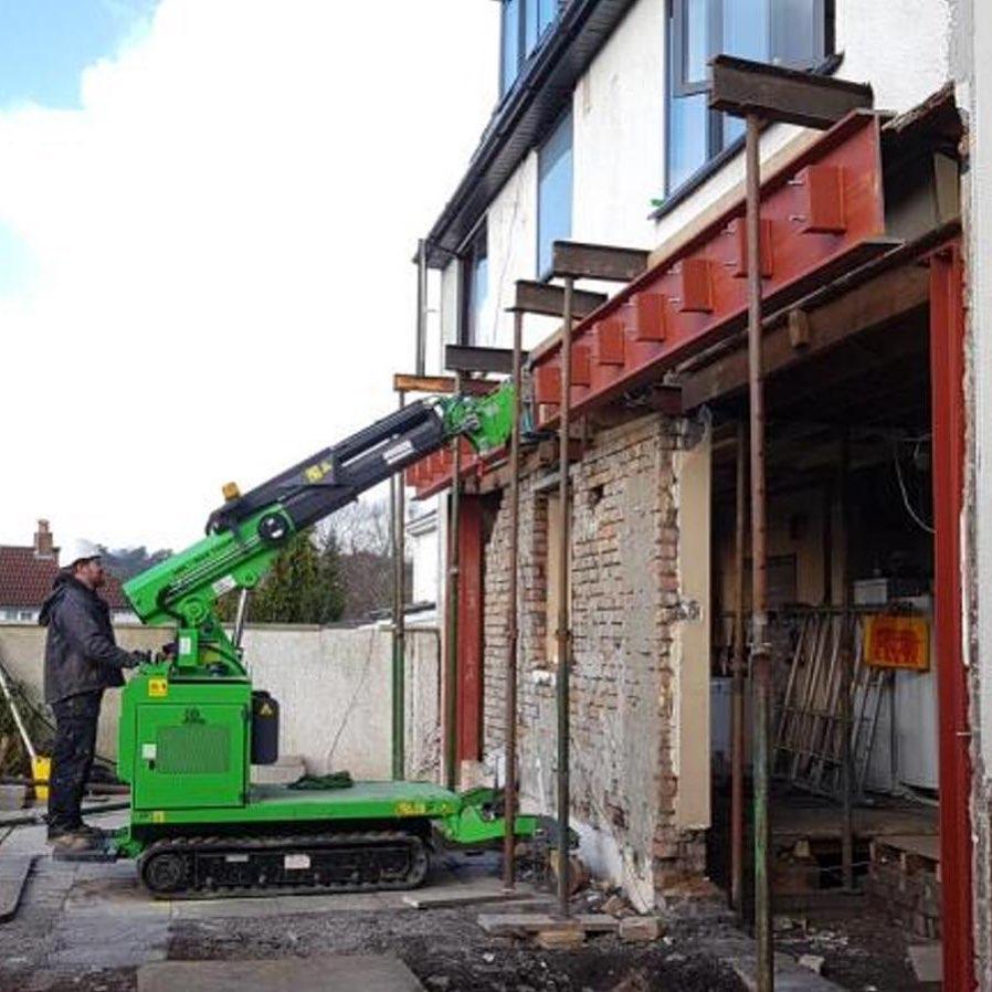 800kg Steel I-beam Installation in Bristol1
