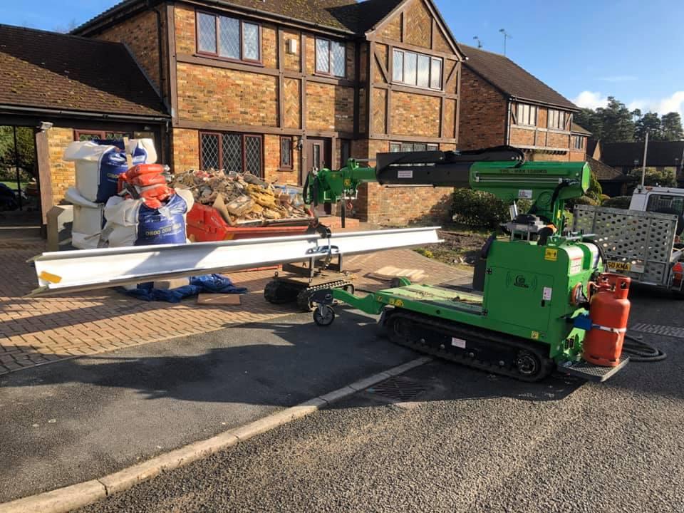 Heavy Steel I-Beams Installed in Bracknell