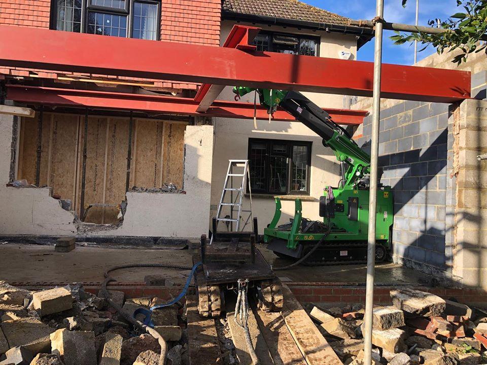 Installing 1200kg Steel Beams in Godalming