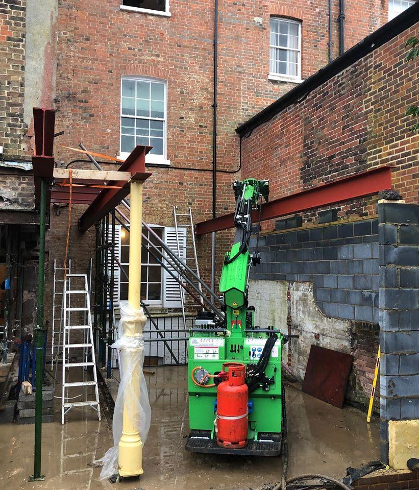 Large Steel Beams Installed in Gosport