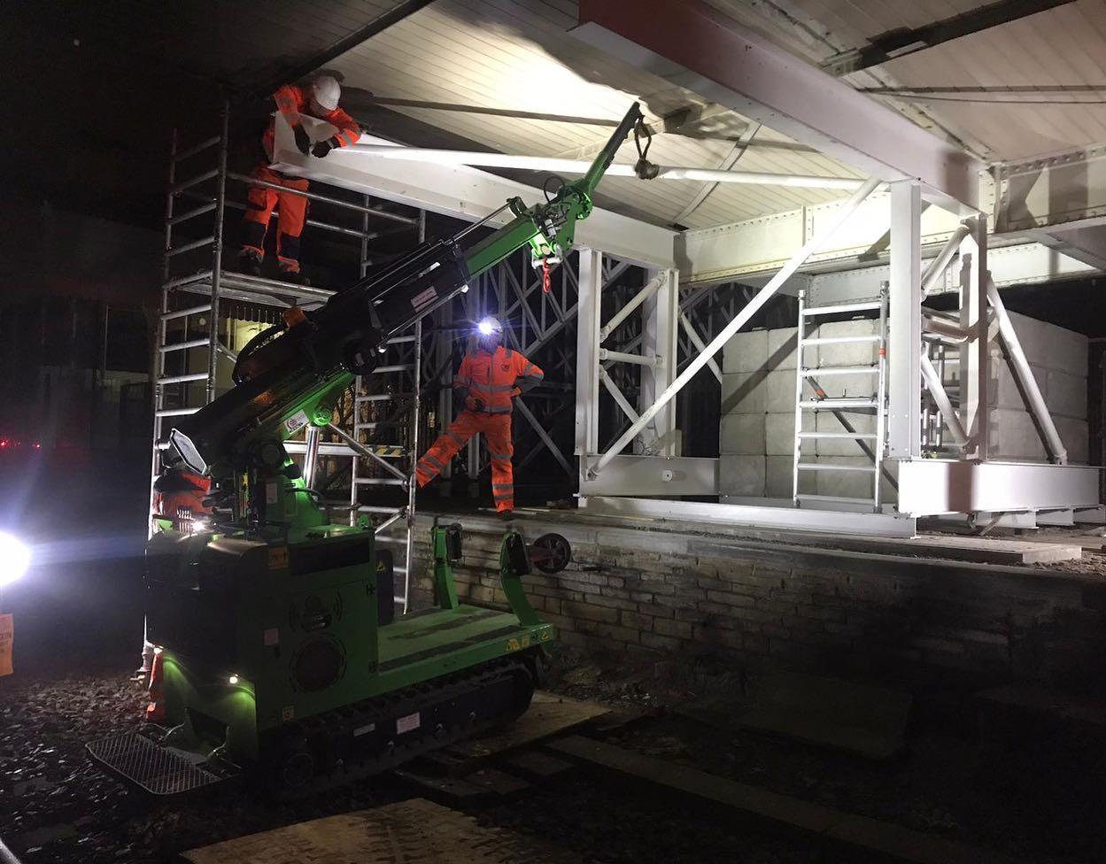 Steel Beam Installation for Network Rail