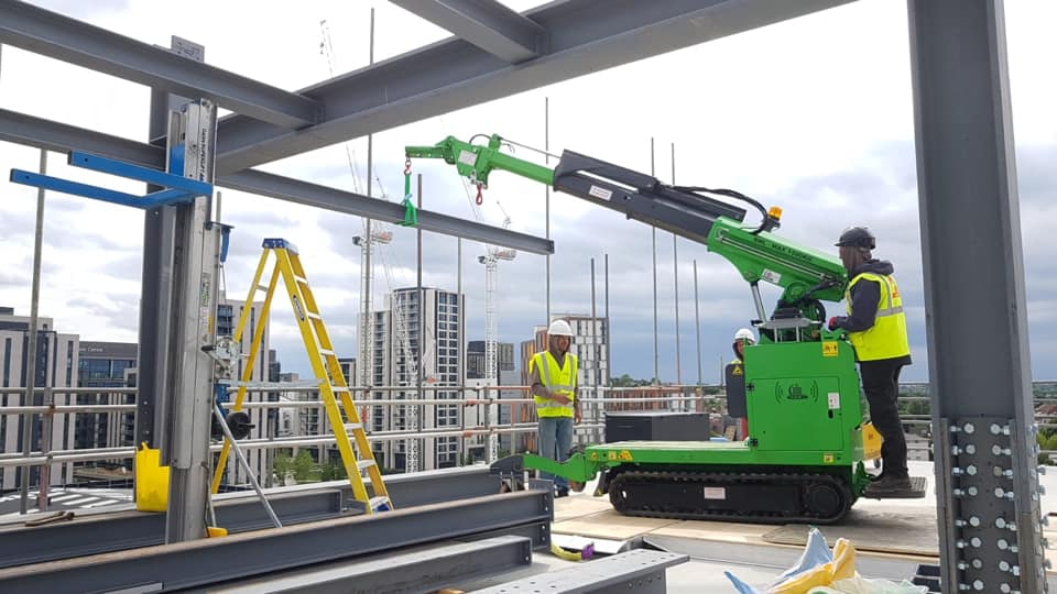 Installing Steel Beams on a Construction Site in Watford