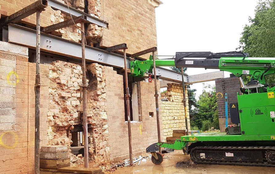 Installing Steel Beams on a Restricted Access Site in Stratford-upon-Avon