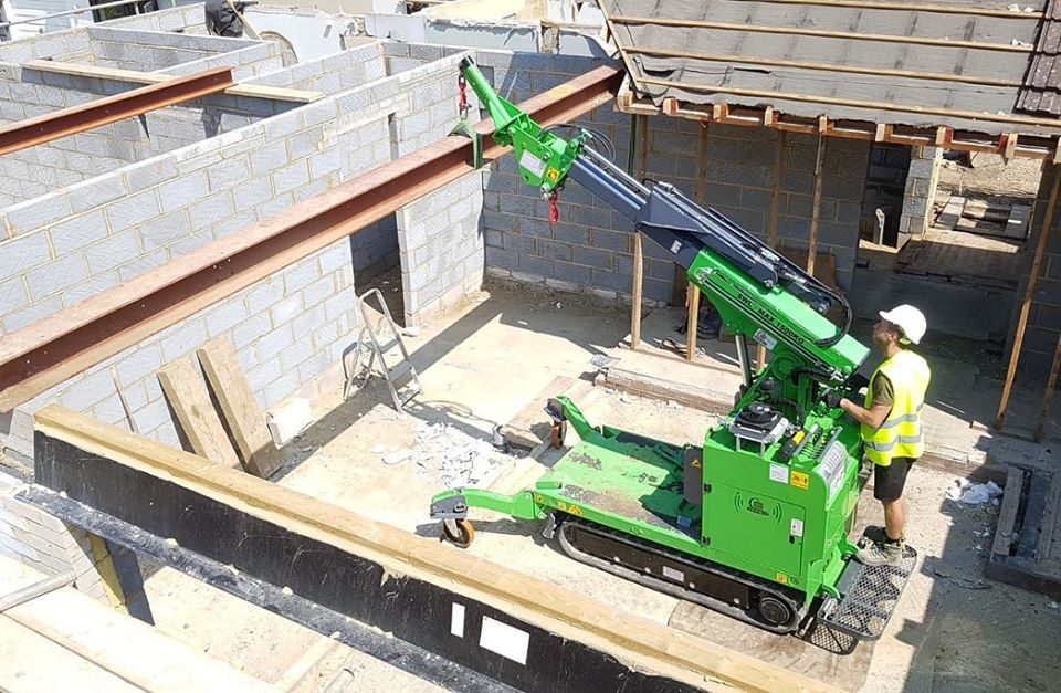 Move and Install of Steel Beams for a Bungalow Rebuild