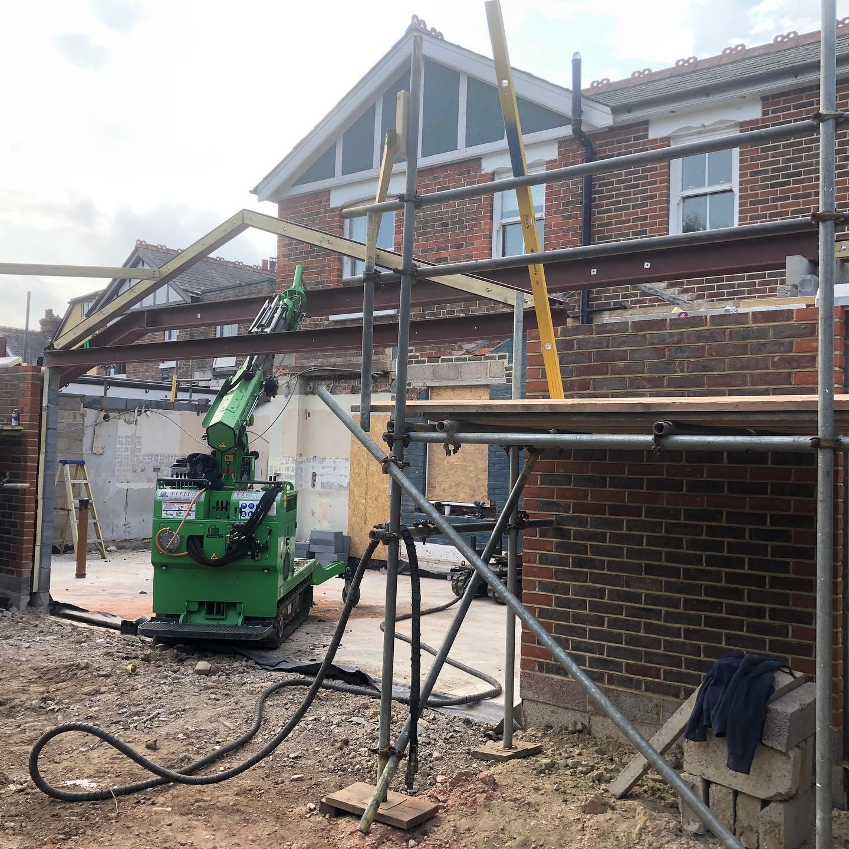 Heavy Steel Beam Installation in Chichester