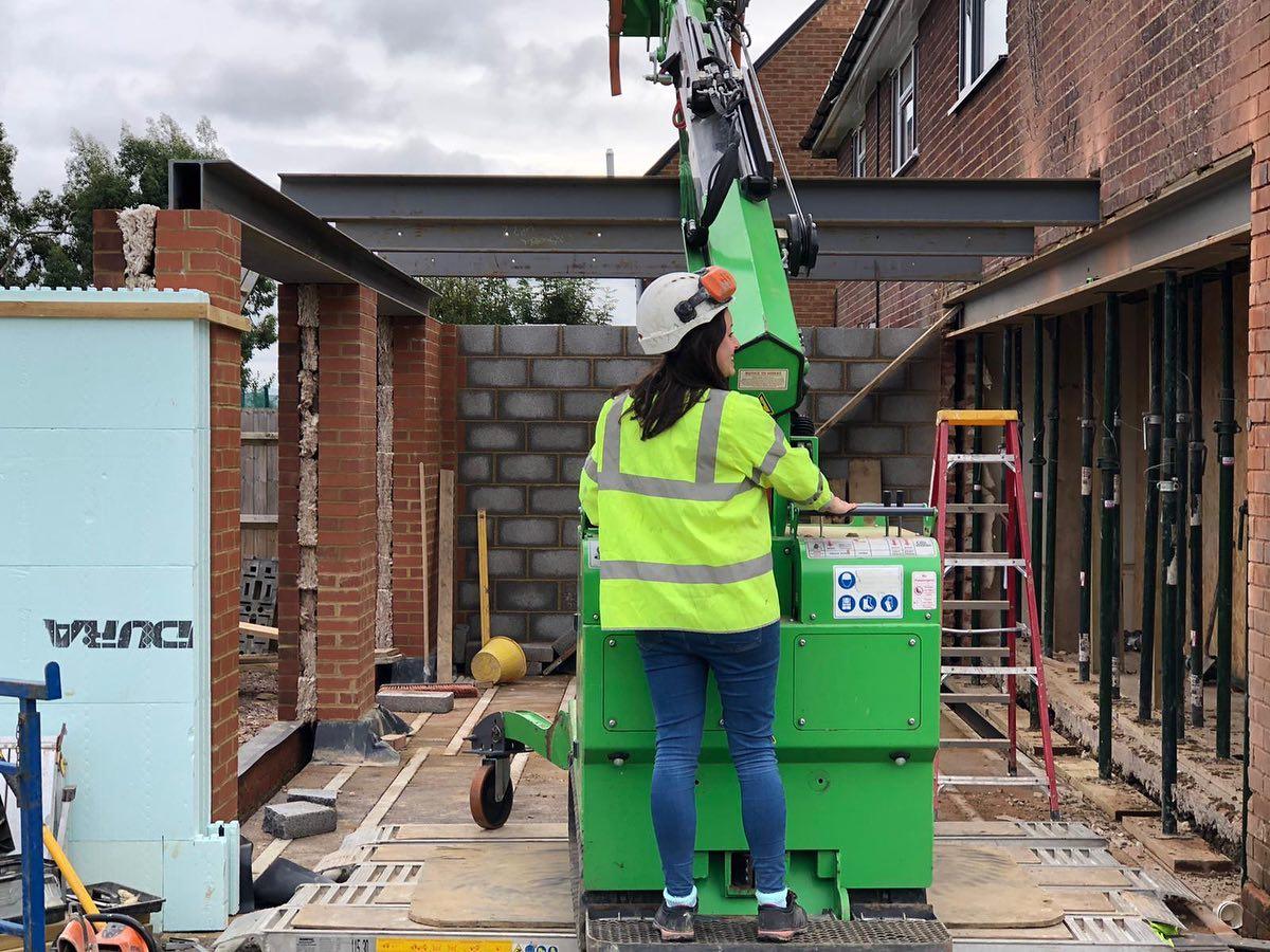 Multiple Steel Beams Installed in Milton Keynes