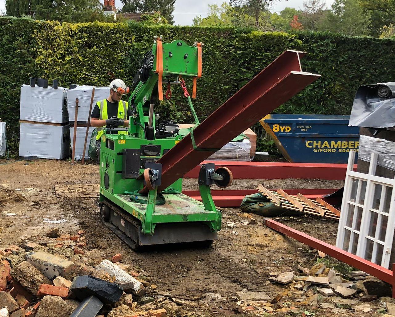 Six Steel Beams Installed in Farnham