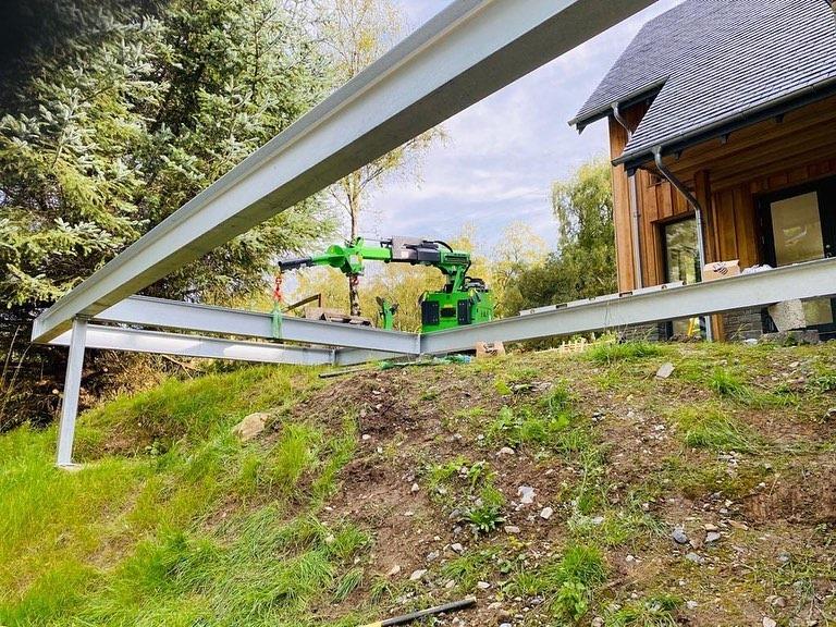 Steel Beam Balcony Installation in Dunkeld