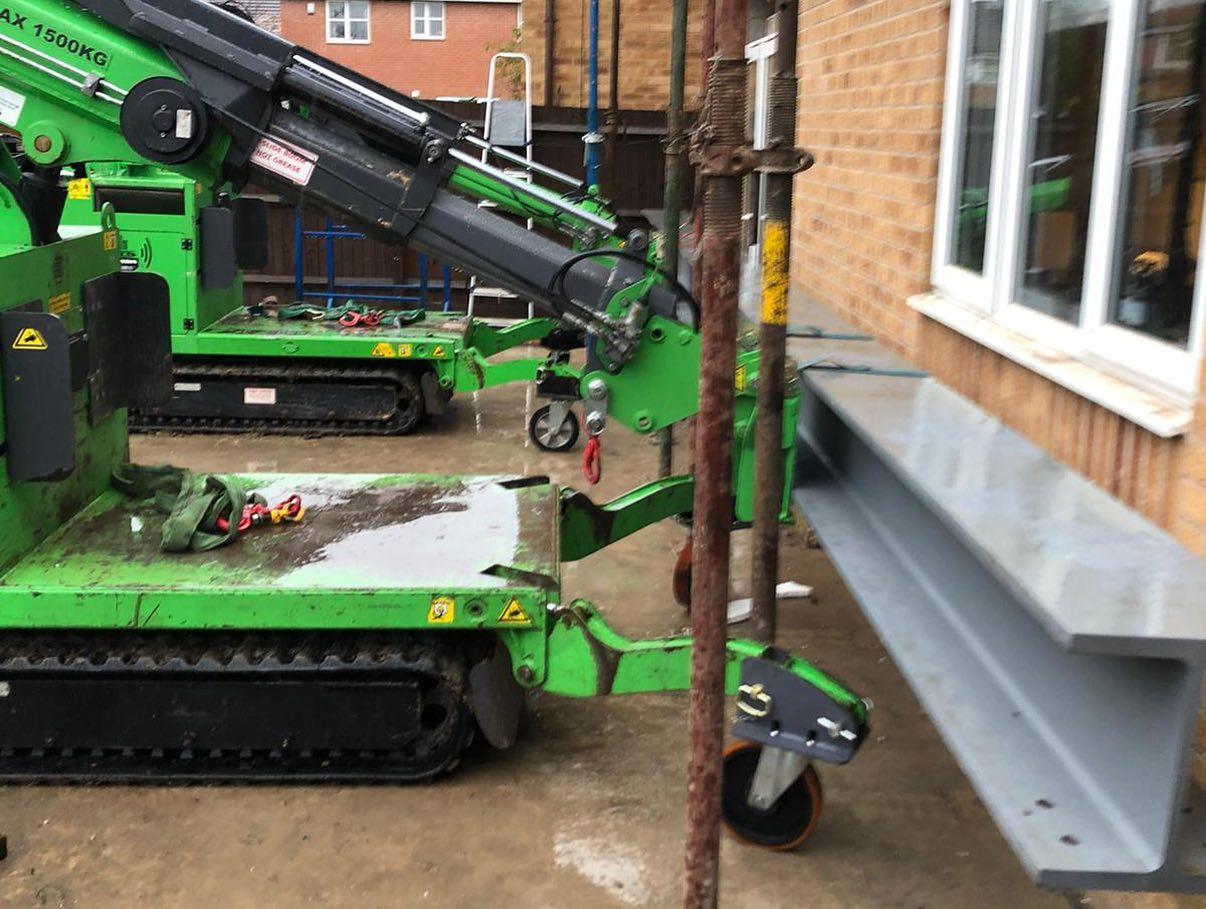 Heavy Steel Beam Installation in Derby