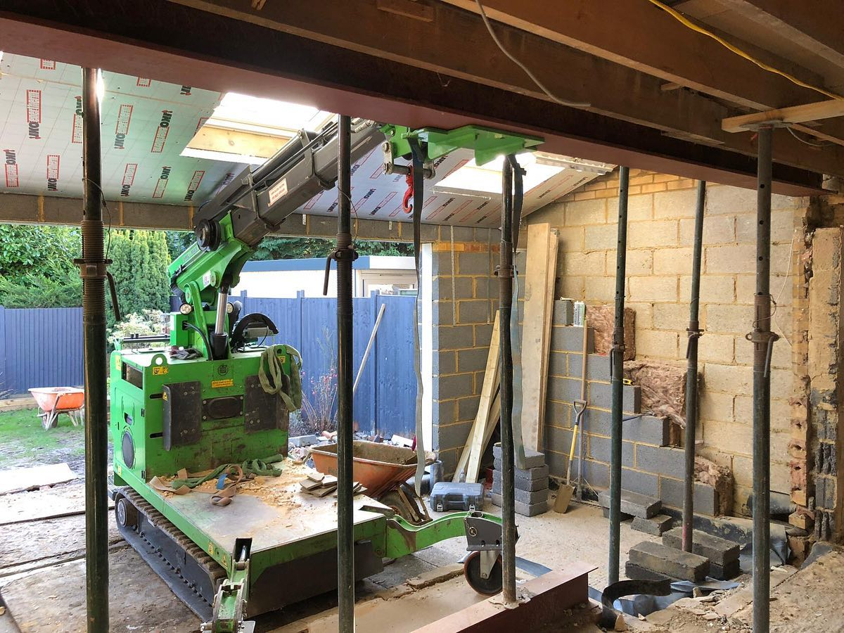 Restricted Access Steel Beam Installation in Hemel Hempstead