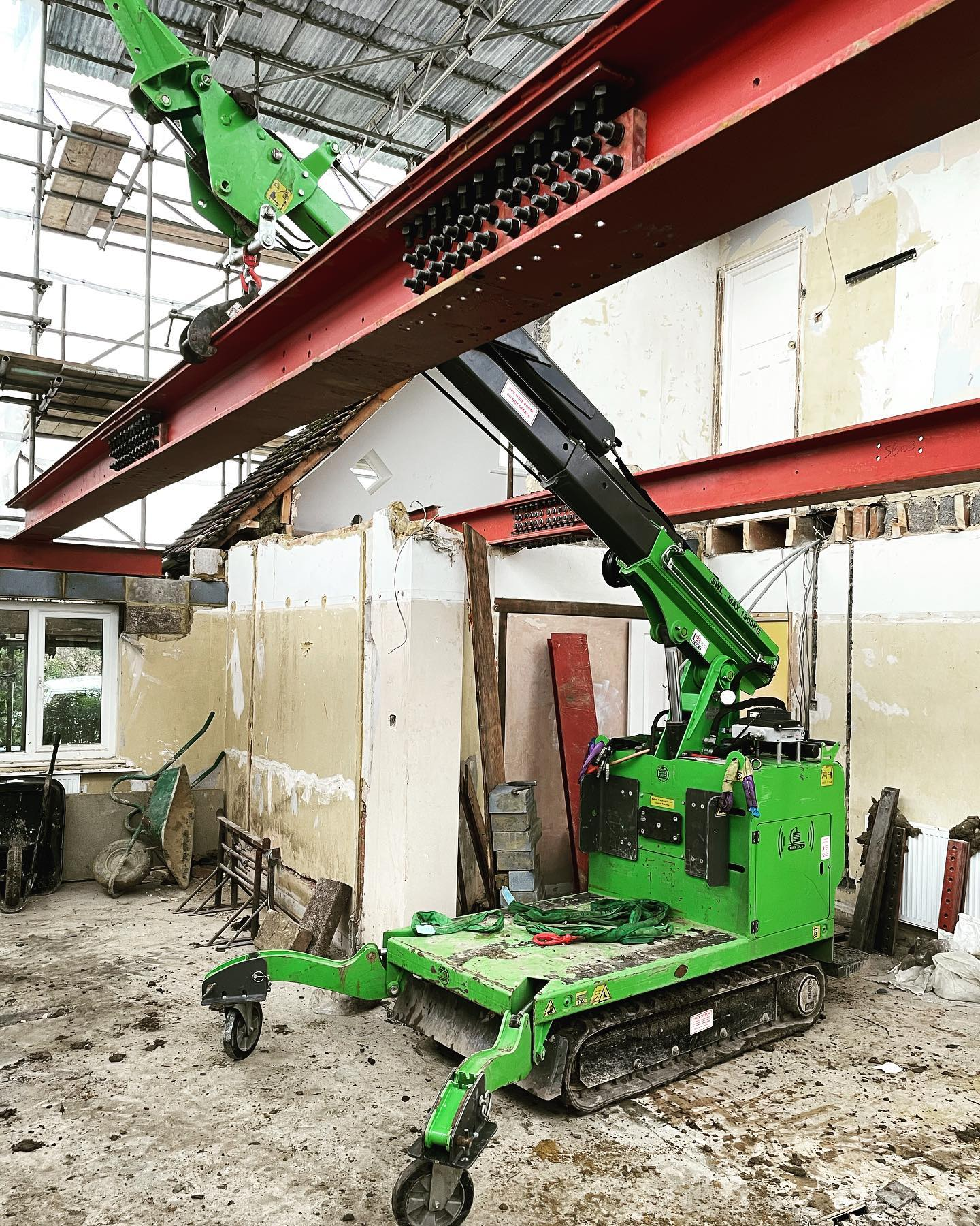 Heavy Steel Beam Installation in Farnham