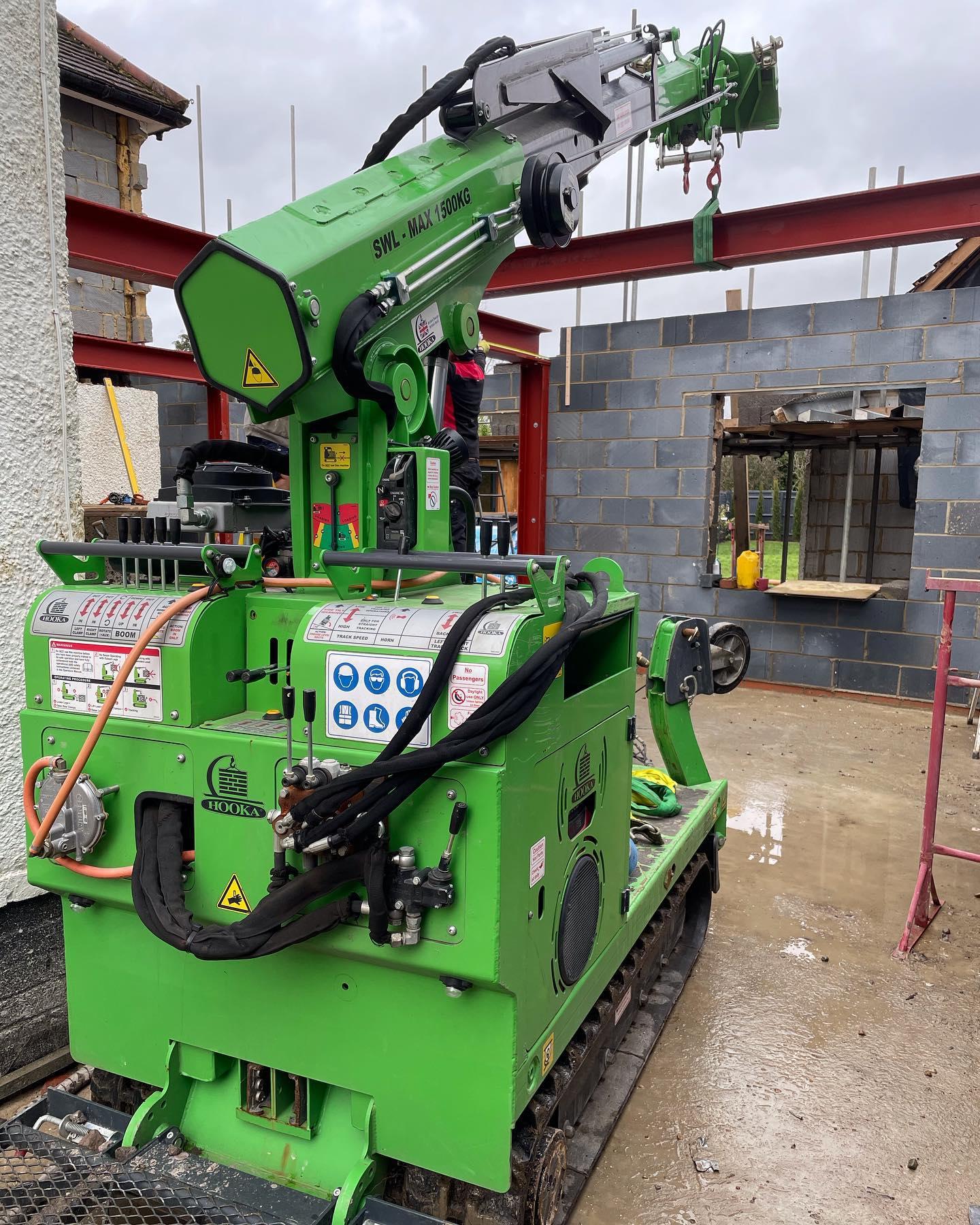 Multiple Steel Beams Installed in Farnham