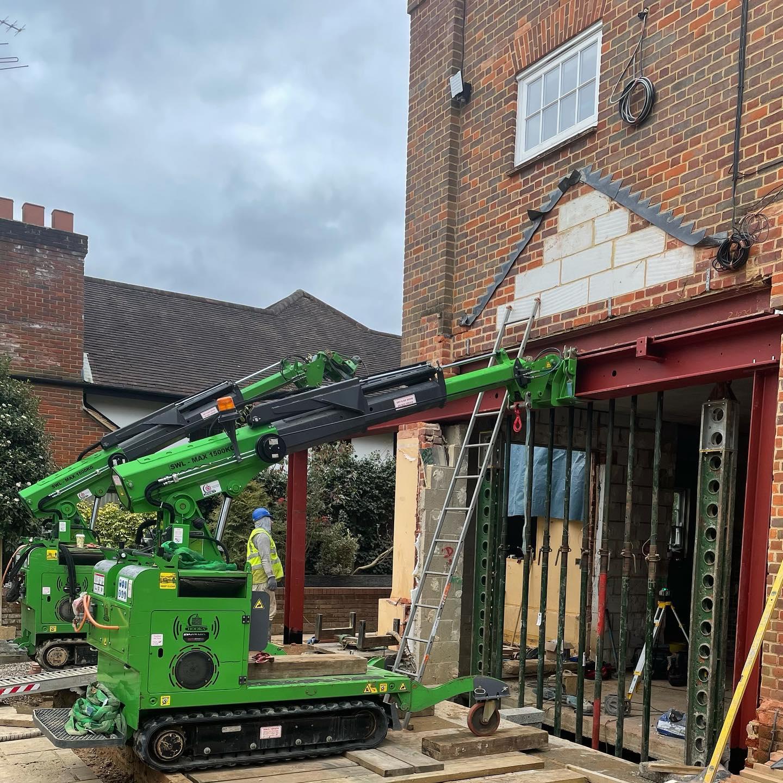 Heavy Steel Beam Goalpost Assembly Installation in North London