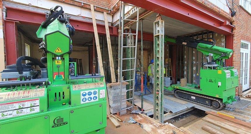 Multiple Heavy Steel Beams Installed in North London