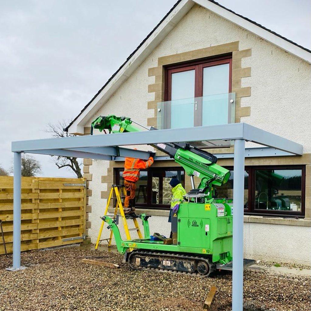 Steel Frame Balcony Installation in Scotland