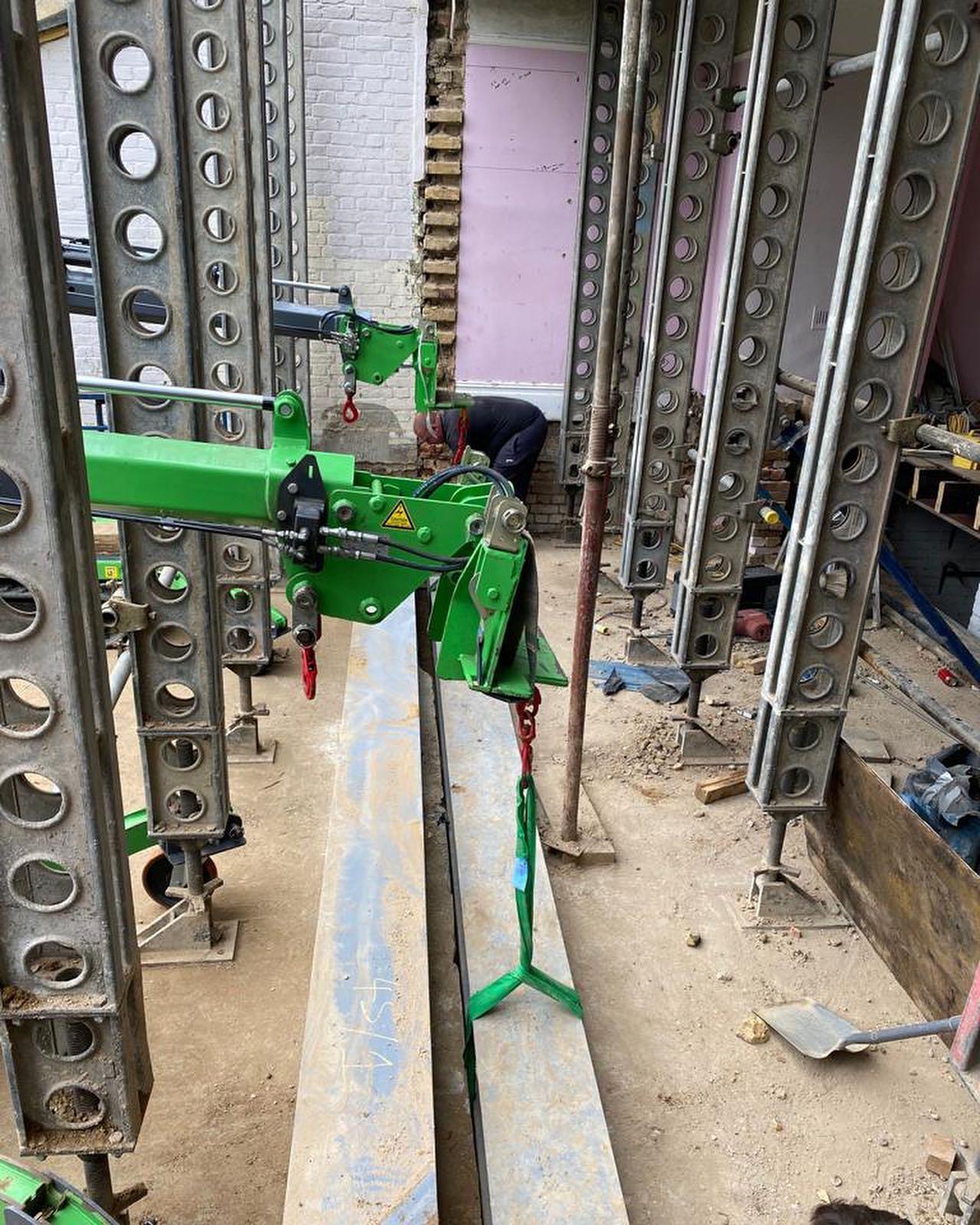Installing a Heavy Beam in East London
