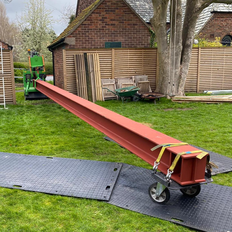 Large Steel Beam Installed in Wrexham