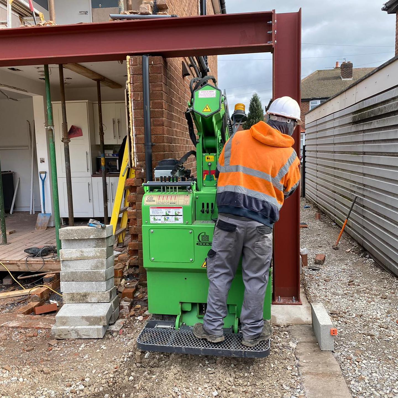 Tight Access Steel Beam Installation in Warrington