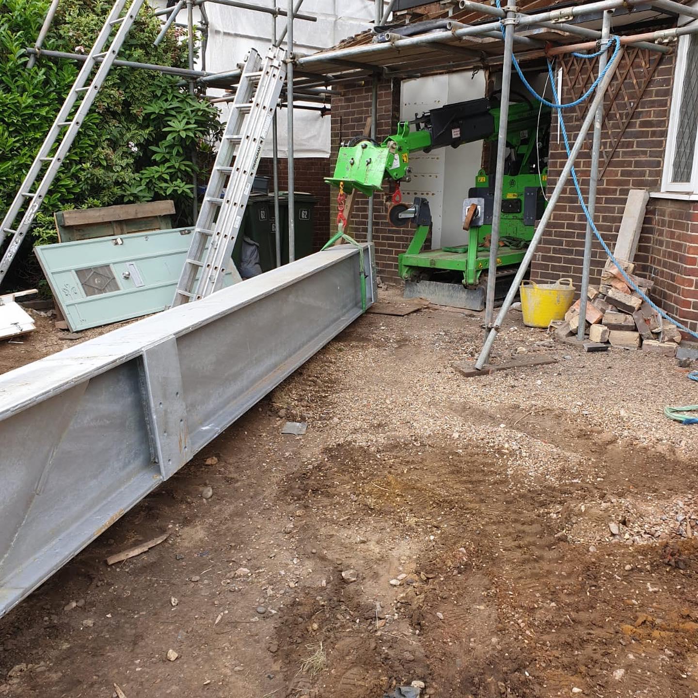 Very Tight Steel Beam Installation in Hampton Court